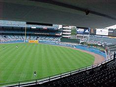 Inside the original Yankee Stadium, New York.