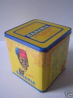 BOITE METAL 19X19X19cm PUB CHOCOLAT BANANIA J ADORE