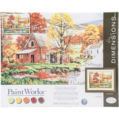 Paint Works Paint By Number Kit 16inX20in Friends Of Autumn