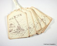 Winnie the Pooh Tags Raft Adventure by PrettyPaperCottage on Etsy