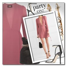 """""""PARTY ON!"""" by shoaleh-nia ❤ liked on Polyvore featuring Reformation, Lanvin and Jimmy Choo"""
