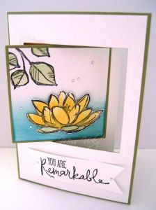 Female Card, Pop Out Swing Card Stamp Set - Remarkable You, Technique - Water Colouring Stampin' Up!
