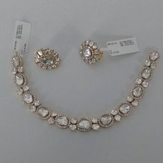 bridal sets & bridesmaid jewelry sets – a complete bridal look Diamond Pendant, Diamond Jewelry, Diamond Earrings, Diamond Necklaces, Gold Jewellery, Jewellery Holder, Jewellery Sale, Jewellery Designs, Jewelry Patterns