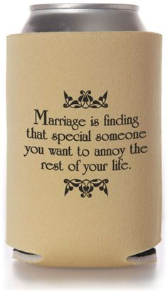 Funny Wedding Koozies | Wedding Koozies, Custom Imprint Personalized Koozies for Wedding