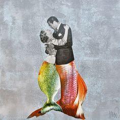Mermaids - Collage - Original