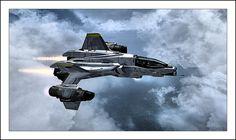 YSS-1000 Sabre Starfighter  ©2013-2014 MidEngine4Life via deviantART