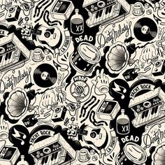 McBess - French illustrator who effortlessely crosses the modern with the classic Music Illustration, Character Illustration, Graphic Design Illustration, Illustrations, Mc Bess, Betty Boop, Tatto Old, Skateboard Design, Desenho Tattoo