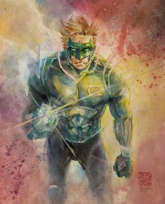 Comic Book Covers, Comic Books Art, Comic Art, Book Art, Kyle Rayner, Dc Comics Art, Dc Universe, Marvel Dc, Green Lanterns