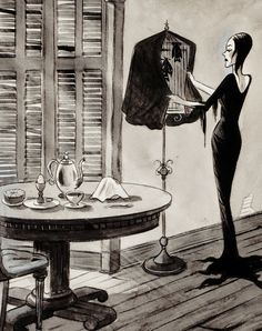 Two Strip Technicolor, vintagegal:   Illustration by Charles Addams