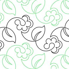 """Spring Vine - Paper - 7.75"""" - Quilts Complete - Continuous Line Quilting Patterns"""