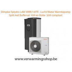 www.verwarmingsshop.be - Dimplex - Warmtepomp Lucht/water - Law 9IMR - LAW 14ITR - split compleet buffervat 100l en boiler 300l - promotie