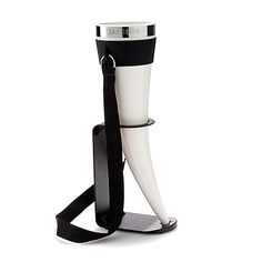 DAS HORN  With this drinking horn in hand, you are going to storm your next tailgate party like a viking king. The horn holds a heroic 24 oz. of beverage. It not only comes with a convenient stand, for when you're busy taming the flames of an epic, but it also includes a neck strap, allowing you full, two-handed gesturing as you regale your eager listeners at your next campout or Best Man's toast.