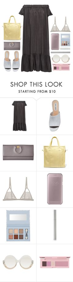 """what's under"" by foundlostme ❤ liked on Polyvore featuring Sea, New York, Steve Madden, Salvatore Ferragamo, Balenciaga, Samsung, rms beauty, Alice + Olivia, shu uemura and prettyunderpinnings"
