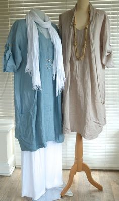 Fabulous Lagenlook Italian Linen Quirky Lined Shawl Collar Tunic Dress RSP £59 | eBay
