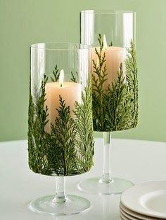 The Best DIY and Decor: Candle and Greenery for Christmas decor