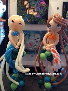 Sirena Arte en globo