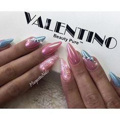💕💙💕💙💕 —–———————————————————— Happy Valentine's day💓💓💓 @valentinobeautypure #dustfreelife #chromenails #glitternails #nails #gelnails #nailart #almondnails #MargaritasNailz #vetrogel #nailfashion #pinknails #naildesign#nailswag#hairandnailfashion #nailedit #nailprodigy#naildesigns #nailpromagazine#nailporn#nailsofinstagram #nailaddict#nailsoftheday #nailstagram#nailtech #nailsoftheday #nailedit #nailitdaily #nailsmagazine#nailpro#nails2inspire#nailpromote