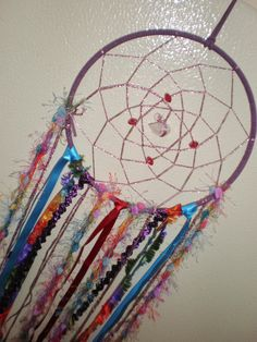 Colourful, boho style dream catcher...hand-made by me! Available https://www.etsy.com/au/listing/230903419/dreamcatcher-dream-catcher-hanging?ref=related-3at