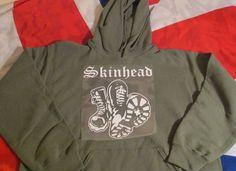 Skinhead Boots . Hoody . Sweatshirt MILITARY GREEN #Unbranded
