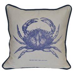 Tourteau Pillow in Blue