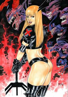 Magik by Iago Maia Marvel Dc Comics, Magik Marvel, Comics Anime, Marvel Comic Universe, Marvel Art, Marvel Heroes, Ms Marvel, Marvel Women, Marvel Girls