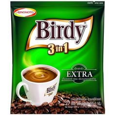 Birdy Extra 3 in 1 Instant Coffee Mix Rosted Aroma Blend Pack of 27 Sticks X 2 Pack *** You can find more details by visiting the image link. (This is an affiliate link) Coffee Label, Coffee Mix, Thai Recipes, Gourmet Recipes, Cake Makers, Instant Coffee, Root Beer, Mini Cakes, Tea