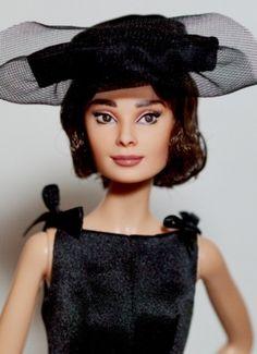 Coming Soon: OOAK artist doll: Audrey Hepburn in Love in the Afternoon