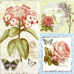 4 x Single Luxury Paper Napkins for Decoupage and Craft Vintage Post Card | eBay