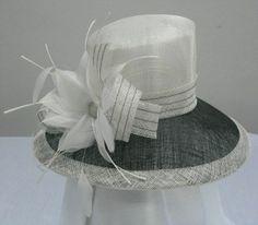ladies sinamay church hat