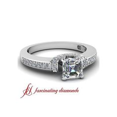 Petite Diamond Engagement Ring Pave Set ($669)