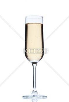 glass of alcoholic drink. - Glass of alcoholic drink isolated on white background.