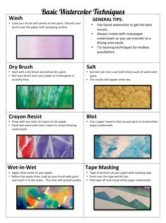 Watercolor paint is by far my favorite medium in my classroom. The versatility, approachability, inexpensive cost and ease of clean-up make watercolor a sure bet for such a wide variety of projects. H