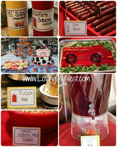 Fire Truck Birthday Party Food (& activities if needed)
