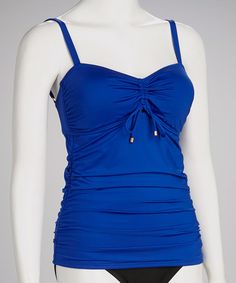 Take a look at this Cobalt Full-Fit TankiniTop by Jantzen on #zulily today!