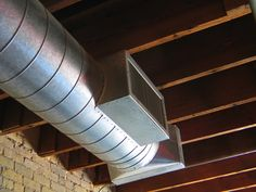 We offer custom ductwork design, fabrication, and installation for residential and commercial air conditioning and heating systems. Exposed Basement Ceiling, Vaulted Ceiling Lighting, Lofts, Hvac Ductwork, Commercial Air Conditioning, Hvac Design, Ohio House, The Help, House Design