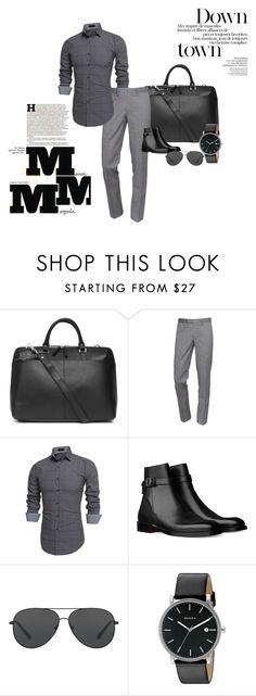 """Downtown Gent"" by chaneldavis on Polyvore featuring Sandqvist, The Kooples, Michael Kors, Skagen, Maison Margiela, men's fashion and menswear"
