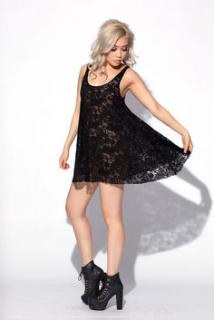 Lace Baby Doll Dress // Black Milk Clothing