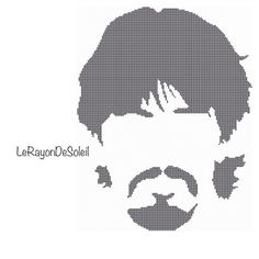 Modern cross stitch pattern The Beatles silhouette George Harrison on Etsy, 3,00€