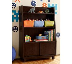 I know these are meant to be kids furniture, but I think they'd be kind of awesome for grown ups too. Oak Park Elementary Bookcase $479