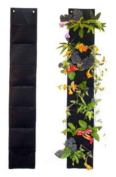 7 Pocket Vertical Hanging Planter via @truecouponing