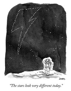 """The stars look very different today."" RIP David Bowie - Daily Cartoon from the New Yorker Major Tom, Ziggy Stardust, Amy Poehler Smart Girls, David Bowie Quotes, David Bowie Lyrics, David Bowie Tribute, Second Anniversary, New Yorker Cartoons, The New Yorker"