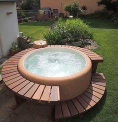 Backyard softub