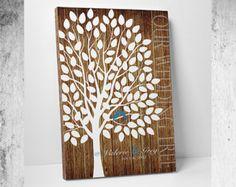 Rustic Wedding Guest Book // Rustic Guest by WeddingTreePrints