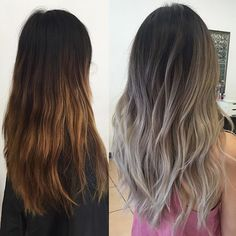From brass to BLOND and Fiber Fix for hair insurance insuran . Brown Hair Balayage, Brown Blonde Hair, Hair Highlights, Ombre Hair, Dark Hair, Bilage Hair, New Hair, Hair Color And Cut, Brown Hair Colors
