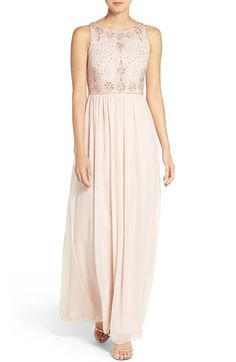 $198.00  Adrianna Papell Beaded Sleeveless Chiffon Gown available at #Nordstrom