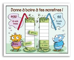 SÉrie : Les monstres - Jeu de lecture - premier cycle primaire Education And Literacy, Kids Education, French Worksheets, Daily Five, French Grammar, French Resources, Teaching French, French Language, Artwork Design