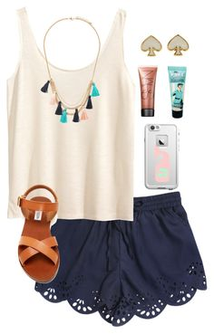 """""""love the tassel necklace :)"""" by morganmestan on Polyvore featuring H&M, Forever 21, Kate Spade, NARS Cosmetics, Benefit and Steve Madden"""