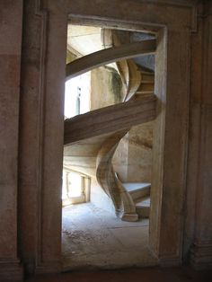 tight fitting stone staircase!