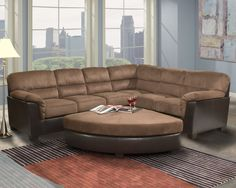 Emereald's Bronson Section is the height of clean and simple without loosing that delicate touch.   Family room couch