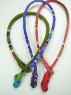 felted necklaces by Andrea Grahm